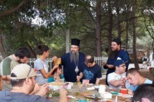 Ο Λευκάδος Θεόφιλος κοντά στα παιδιά με ειδικές ανάγκες