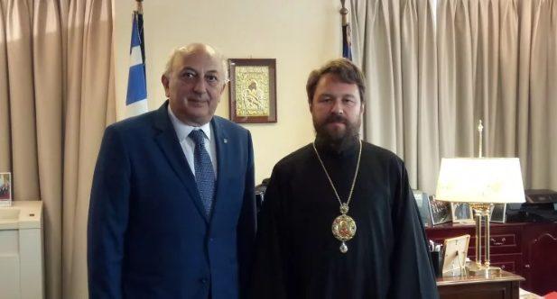 Στην Αθήνα ο Βολοκολάμσκ Ιλαρίων με ειδική αποστολή – Συναντήθηκε με τον Γιάννη Αμανατίδη