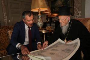 Με τον Σταύρο Θεοδωράκη συναντήθηκε ο Οικουμενικός Πατριάρχης Βαρθολομαίος