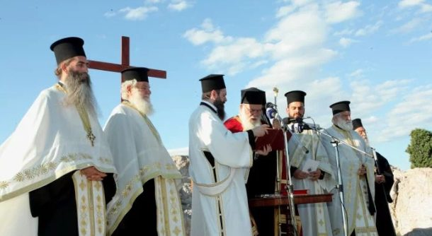 Ο Εσπερινός του Αποστόλου Παύλου στον Ιερό Βράχο του Αρείου Πάγου
