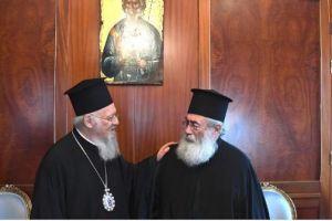Ο Αρχιεπίσκοπος Σιναίου Δαμιανός στο Φανάρι- Συναντήθηκε με τον Οικ.Πατριάρχη.