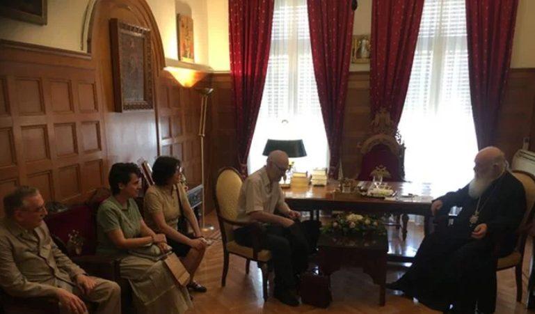 Συνάντηση του Αρχιεπισκόπου Αθηνών Ιερωνύμου με μέλη συλλόγου κατά των εκτρώσεων
