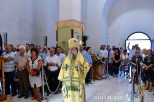 Ο Κηφισίας Κύριλλος στα Λευκάκια Ναυπλίου για τον Αγ.Λουκά τον Ιατρό