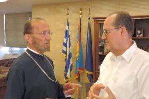 Συνάντηση του Μητροπολίτη Αγίου Φραγκίσκου Γερασίμου με το Δήμαρχο Καλαμάτας