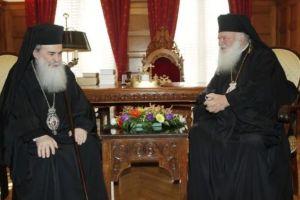 Συνάντηση του Αρχιεπισκόπου Ιερωνύμου με τον Ιεροσολύμων Θεόφιλο