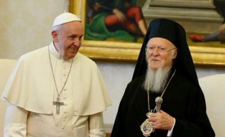 Ο Πάπας Φραγκίσκος ευχήθηκε στον Οικουμενικό Πατριάρχη για τα ονομαστήριά του