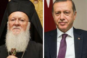 Συγχαρητήριο μήνυμα Πατριάρχη προς Ερντογάν για την εκλογή του