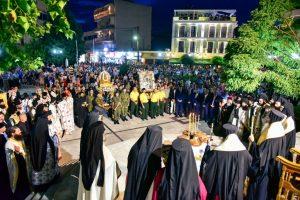 Μέγας Πανηγυρικός Εσπερινός επί τη εόρτη της Προστάτιδος και Πολιούχου της πόλεως του Λαγκαδά, Αγίας Οσιοπαρθενομάρτυρος Παρασκευής.
