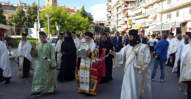Υποδοχή της Τίμιας Κάρας του Οσίου Νικάνορος στα Γρεβενά