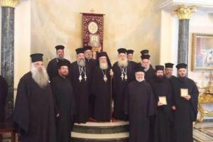 Οι Μητροπολίτες Ρεθύμνης Ευγένιος και Ιεραπύτνης Κύριλλος στο Πατριαρχείο Ιεροσολύμων