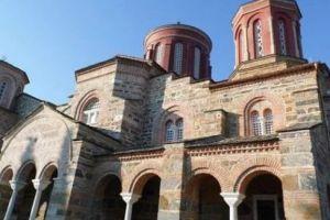 Η εικόνα του Αγίου Σεραφείμ του Σαρώφ, από την Αγιορείτικη Ρωσική Μονή, στο Ησυχαστήριο Τιμίου Προδρόμου στο Ακριτοχώρι