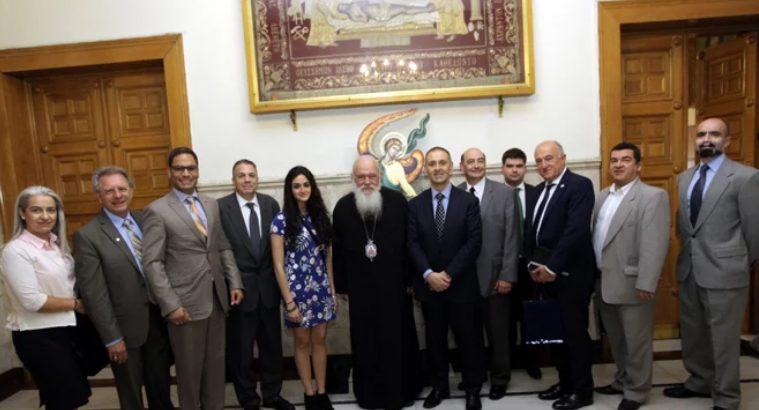 Συνάντηση του Αρχιεπισκόπου με το Προεδρείο της Παγκόσμιας Διακοινοβουλευτικής Ένωσης Ελληνισμού