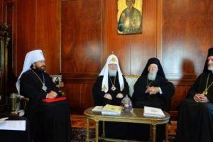 Η συνάντηση Βαρθολομαίου-Κυρίλλου στο Φανάρι σε φωτογραφίες