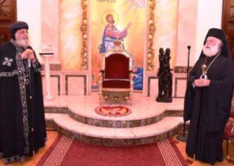 Ο Ελληνορθόδος Πατριάρχης Θεόδωρος υποδέχθηκε τον Κόπτη Πατριάρχη