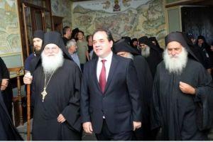 Η Μονή Βατοπαιδίου υποδέχθηκε μετά… «βαίων και κλάδων» το νέο πολιτικό διοικητή του Αγίου Όρους