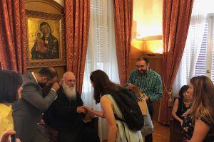Τον Αρχιεπίσκοπο επισκέφθηκαν μαθητές και καθηγητές του Κοινωνικού Φροντιστηρίου