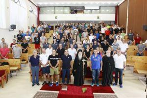 Με τις καλύτερες εντυπώσεις από το συνεδριακό κέντρο του Μοναστηριού Μεταμορφώσεως Ναυπάκτου οι Έλληνες διαιτητές