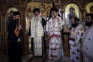 Ο Αρχιεπίσκοπος Ιερώνυμος με τον Κηφισίας Κύριλλο στο πυρόπληκτο Λύρειο Ίδρυμα