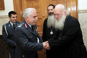 Εθιμοτυπική επίσκεψη του Αρχηγού της Ελληνικής Αστυνομίας στον Αρχιεπίσκοπο