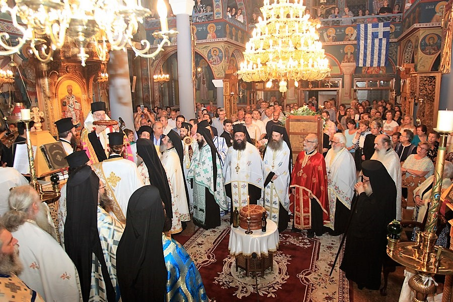 Ο Σεβ. Διδυμοτείχου Δαμασκηνός  στον εορτασμό της Παντάνασσας Παναγίας στην Έδεσσα