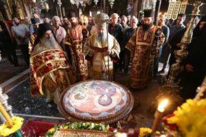 Η Μονή Βατοπαιδίου εόρτασε μεγαλοπρεπώς την Αγία Ζώνη με τον Πατρών Χρυσόστομο