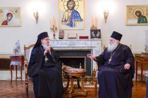 Ο Ηγούμενος της Ι.Μ.Μ. Βατοπαιδίου στον Αρχιεπίσκοπο Αμερικής Δημήτριο