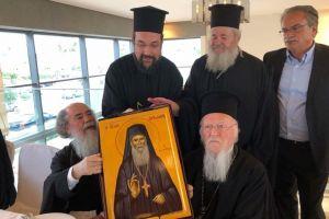 Το συμβολικό δώρο του Κυδωνίας Δαμασκηνού προς τον Οικουμενικό Πατριάρχη