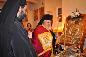 Ο Μητροπολίτης Καισαριανής Δανιήλ στην Μύκονο για τον Άγιο Αρτέμιο