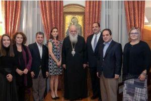 Ο Αρχιεπίσκοπος τίμησε τη μνήμη του ομογενή Ιωάννη Σαντίκου για το φιλανθρωπικό έργο του σε ΗΠΑ και Ελλάδα