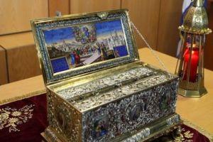 Η Τιμία Ζώνη της Υπεραγίας Θεοτόκου από τη Μονή Βατοπαιδίου στον Εύοσμο Θεσσαλονίκης