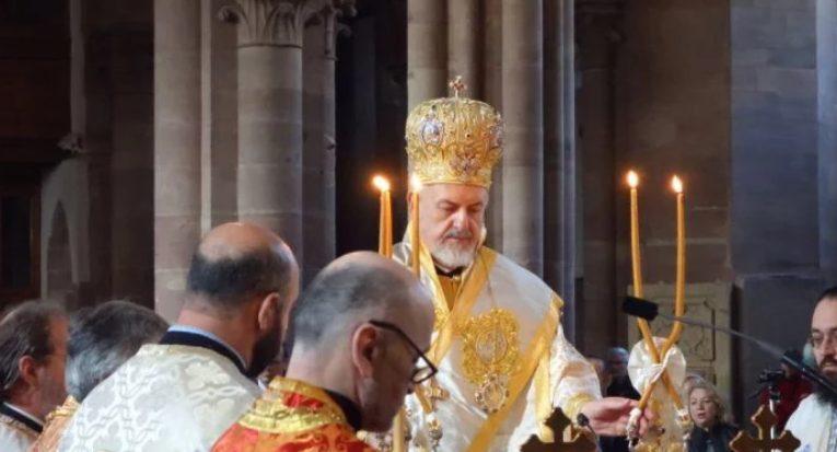 Θεία Λειτουργία από τον Γαλλίας Εμμανουήλ στο Στρασβούργο