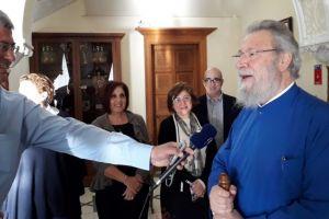 Ο Αρχιεπίσκοπος Κύπρου Χρυσόστομος επέστρεψε στην έδρα του υγιής και ανανεωμένος