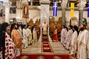 Ο Μητροπολίτης Λαγκαδά Ιωάννης προεξάρχων της Αγρυπνίας στον Ναό του Αγ.Δημητρίου Θεσσαλονικής