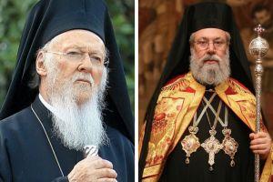 Ευχές του Οικουμενικού Πατριάρχη στον Αρχιεπίσκοπο Κύπρου για ταχεία ανάρρωση
