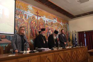 Ο Αρχιεπίσκοπος στην Ημερίδα για την προστασία των Εκκλησιαστικών Μνημείων στην Ι. Μονή Πεντέλης