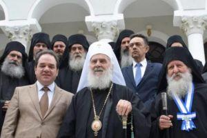 Λαμπρή υποδοχή του Πατριάρχη Σερβίας Ειρηναίου στο Αγιο Ορος