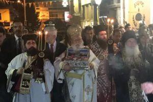 Κλήρος και λαός υποδέχτηκαν την Αγία Ζώνη της Παναγίας στην Τρίπολη
