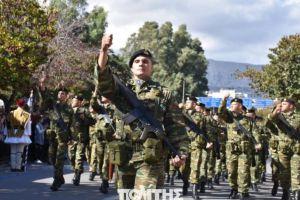 Παρέλαση εθνικής υπερηφάνειας και μηνυμάτων στη Χίο για την απέναντι πλευρά του Αιγαίου