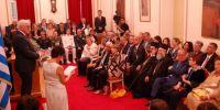 Οι Μητροπολίτες Μεσσηνίας και Μάνης στην τελετή ανακήρυξης του Γερμανού Προέδρου σε Επίτιμο Δημότη Καλαμάτας
