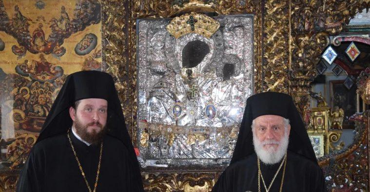 Ο Σύρου Δωρόθεος χειροτόνησε τον Αρχιδιάκονό του Αλέξιο σε Πρεσβύτερο και Αρχιμανδρίτη στην Ιερά Μονή Παναγίας Τουρλιανής