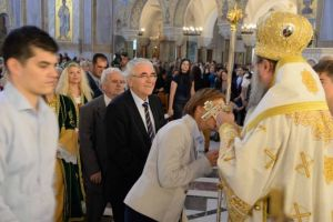 Στον Ναό του Αποστόλου Ανδρέου Πατρών εκκλησιάστηκε η Πρέσβης της Ουκρανίας στην Ελλάδα