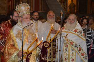 Δισαρχιερατική Θεία Λειτουργία ενώπιον της Αγίας Ζώνης στη Τρίπολη με τη συμμετοχή του Γέροντος Εφραίμ