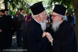 Συνάντηση Αμερικής Δημητρίου με Πατριάρχη Βαρθολομαίο στη Γενεύη- Διαβουλεύσεις εν όψει εξελίξεων.