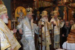 Λαμπρό Αρχιερατικό Συλλείτουργο στη Μονή του Οσίου Δαυίδ για τη μνήμη του Οσίου Ιακώβου του Τσαλίκη