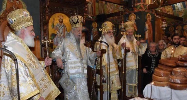 You are currently viewing Λαμπρό Αρχιερατικό Συλλείτουργο στη Μονή του Οσίου Δαυίδ για τη μνήμη του Οσίου Ιακώβου του Τσαλίκη