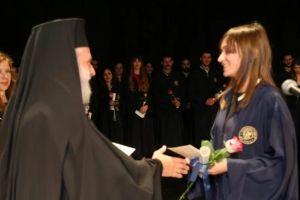 Ο Σύρου Δωρόθεος στο Πανεπιστήμιο Αιγαίου στην τελετή Καθομολόγησης αποφοίτων του