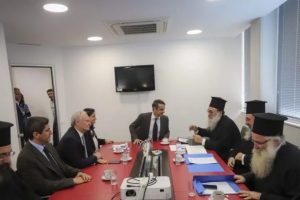 Ο Κ.Μητσοτάκης συναντήθηκε με τους εκπροσώπους της Εκκλησίας της Κρήτης