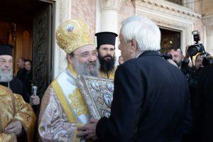 """Η προσφώνηση του Σεβ.Πατρών σε ΠτΔ : """"Η Ελλάδα τυγχάνει μεγίστης ευλογίας από τον Θεό"""""""