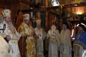Πλήθος πιστών στην πανήγυρη της Ι.Μ. Οσίου Δαυίδ Ευβοίας