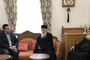 Στο Αγιο Ορος ο Απ.Τζιτζικώστας – Επιθεώρησε έργα της Περιφέρειας στον Αθωνα